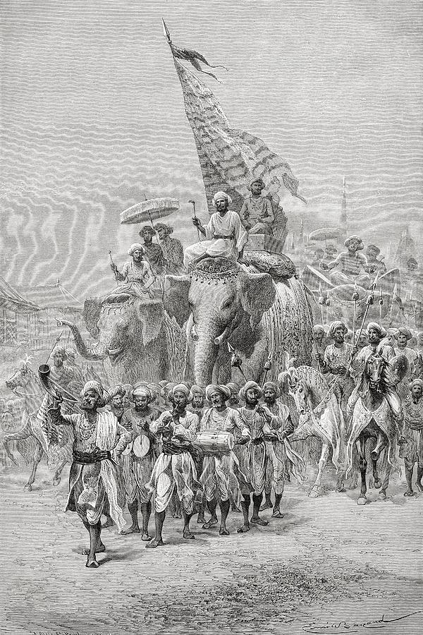Maharaja Photograph - The Maharaja Of Baroda, India Riding An by Ken Welsh