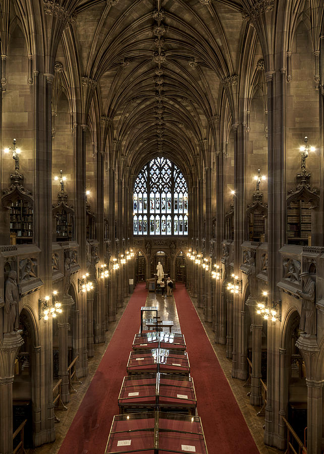 Library Photograph - The Main Library Hall by Dave Wood