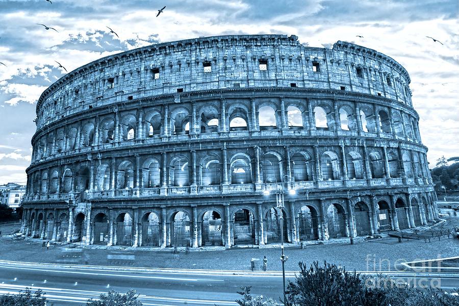 Column Photograph - The Majestic Coliseum by Luciano Mortula