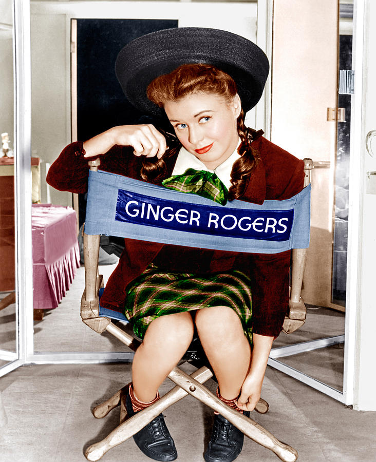 1940s Candid Photograph - The Major And The Minor, Ginger Rogers by Everett