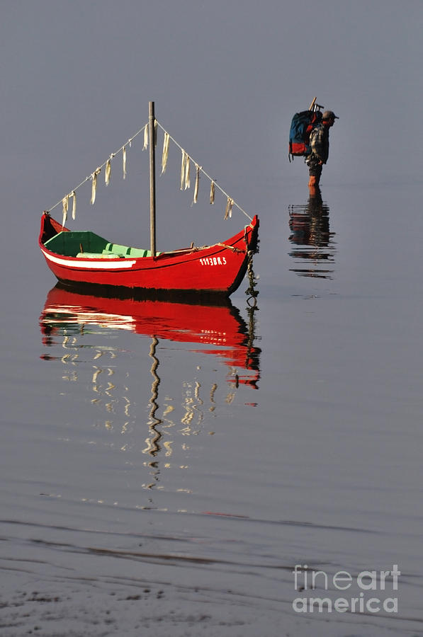 Fishing Photograph - The Man And The Boat by Armando Carlos Ferreira Palhau