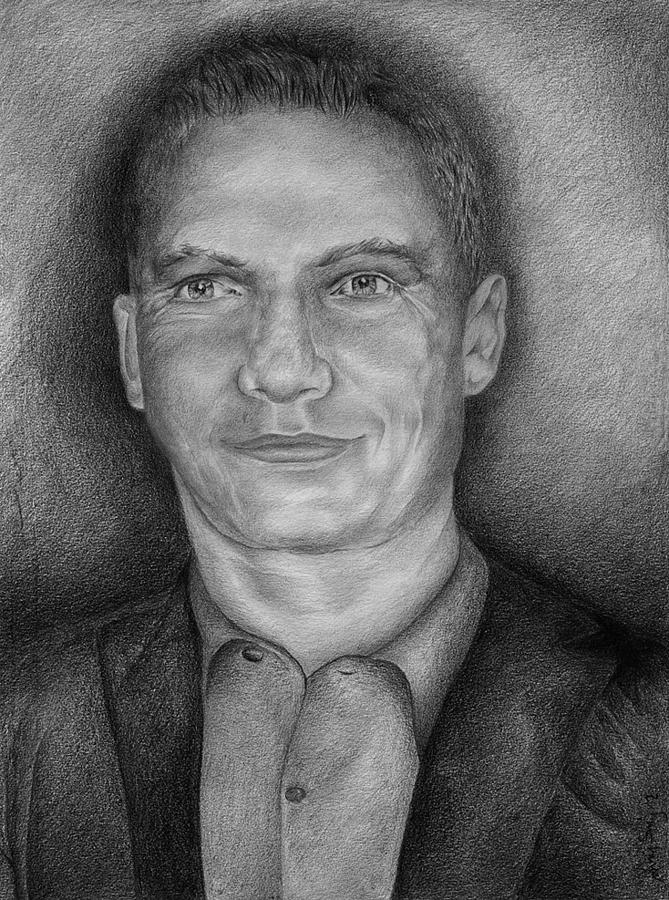 Drawings Drawing - The Man by Blanket Joanna