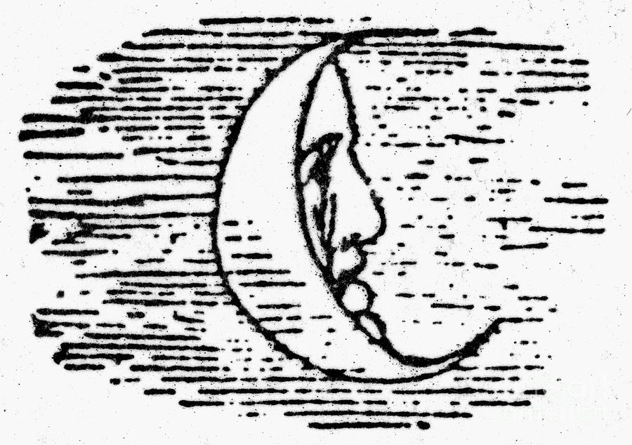 1849 Photograph - The Man In The Moon by Granger