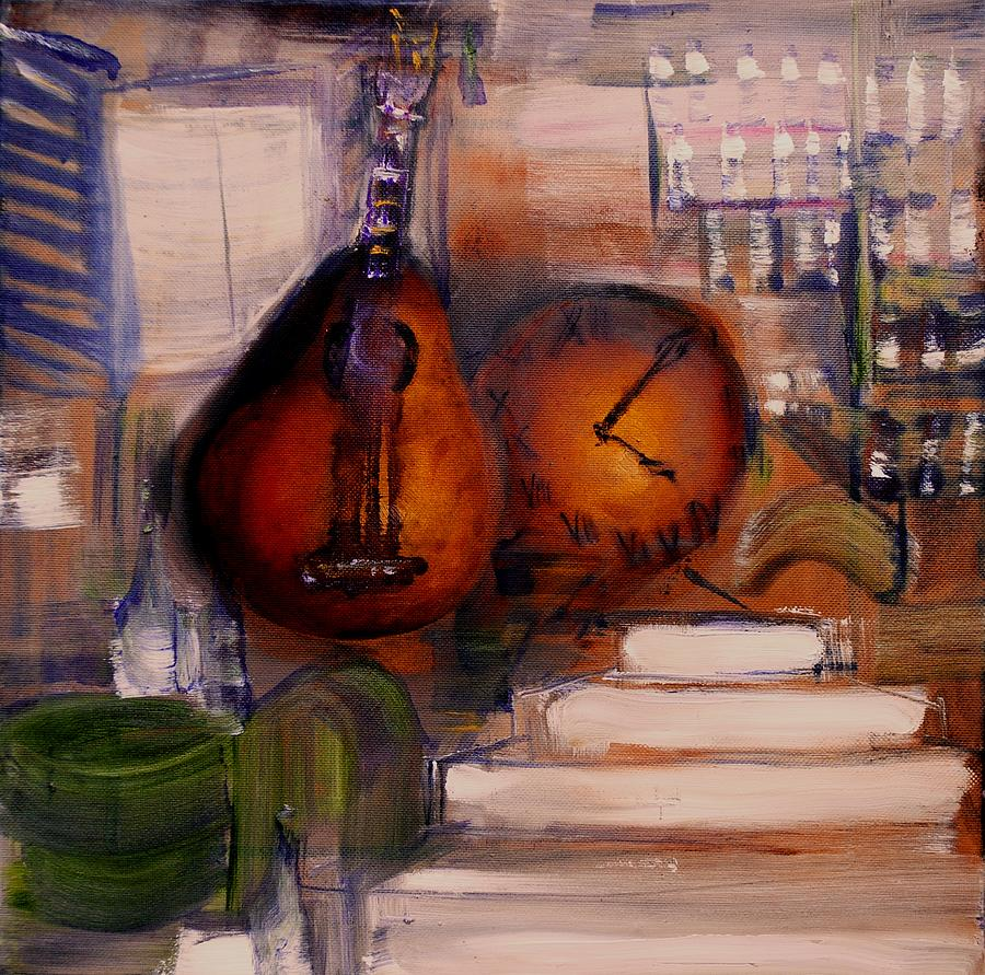 Mandolin Painting - The Mandolin by Evelina Popilian