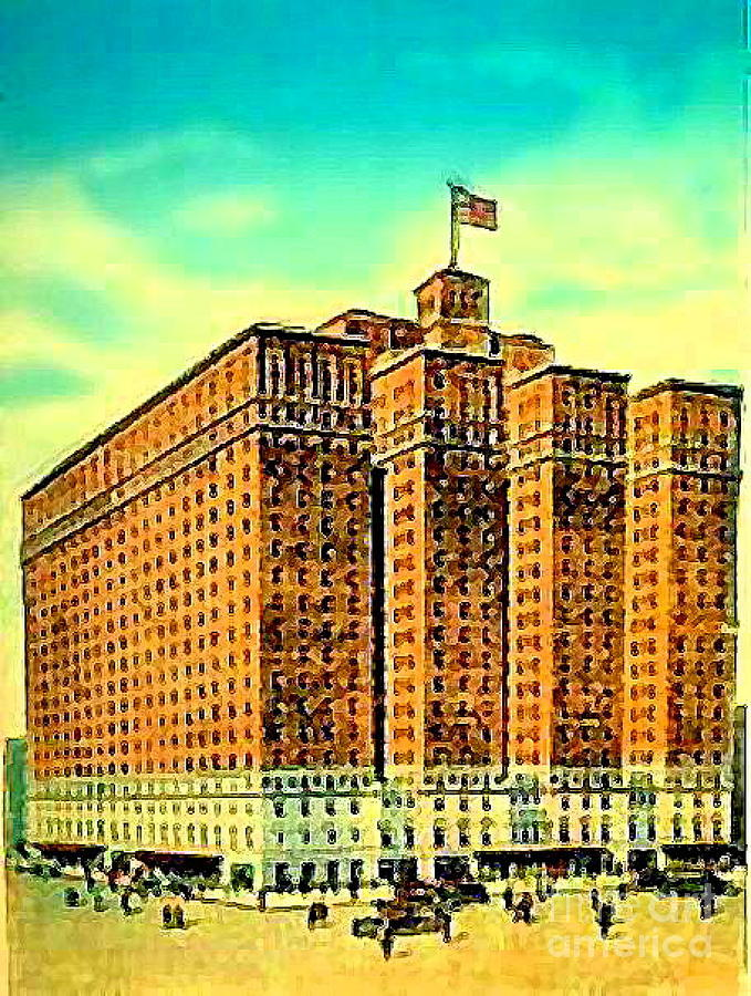 Hotels Painting - The Manger Hotel In New York City C.1920s by Dwight Goss
