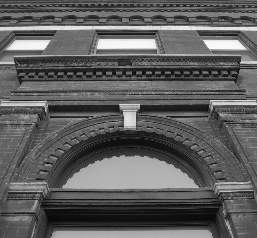 The Photograph - The Manley Popcorn Building Bw by Elizabeth Sullivan