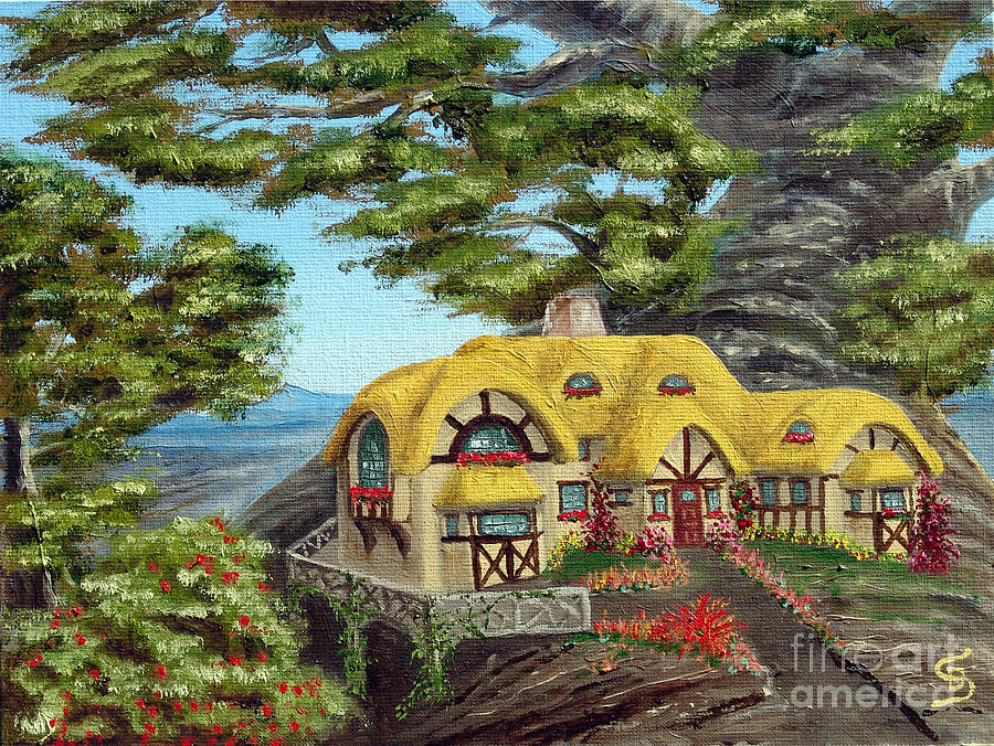Quaint Painting - The Manor Cottage From Arboregal by Dumitru Sandru