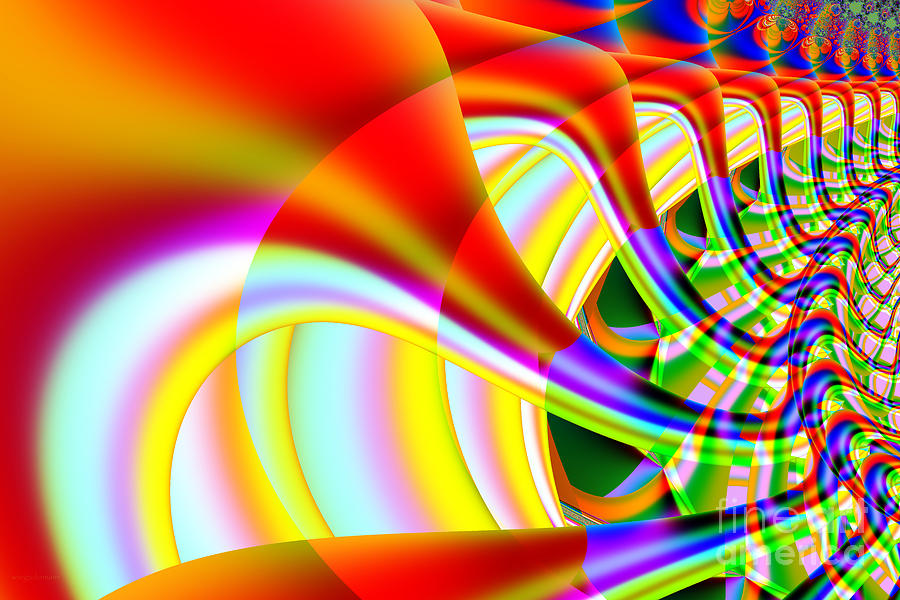 Fractal Digital Art - The Marching Band . S14 by Wingsdomain Art and Photography