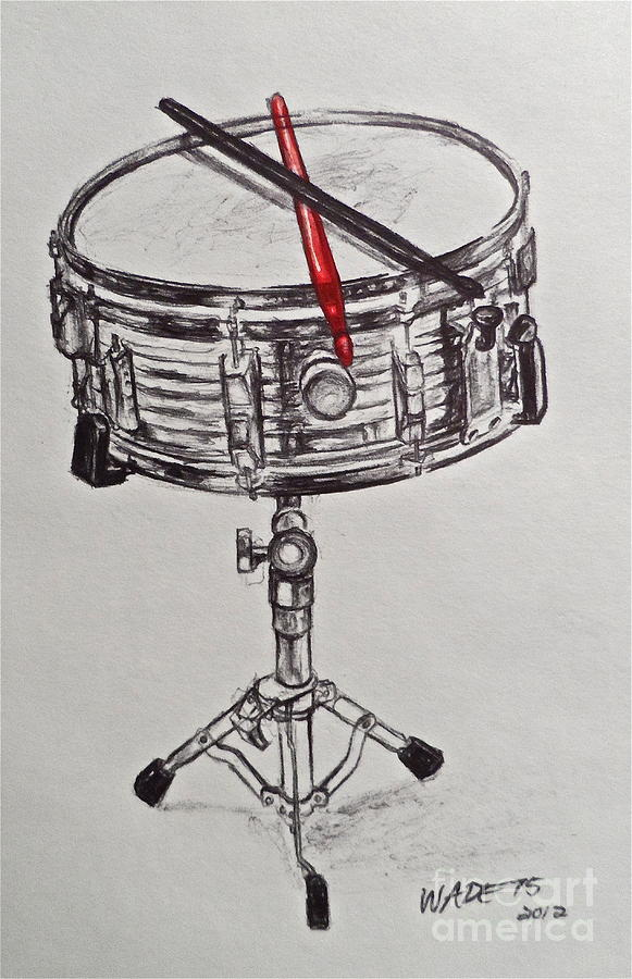 Snare Painting - The Marching Band by Wade Hampton