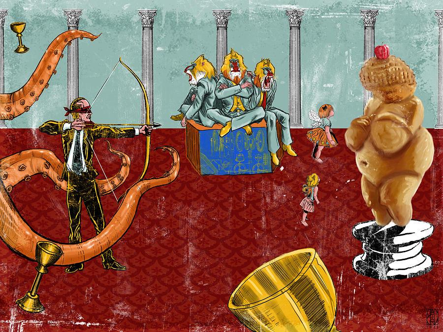 Archer Digital Art - The Marksman by Baird Hoffmire