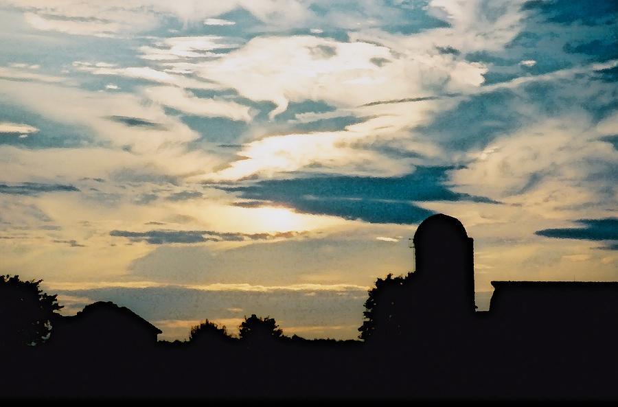 Farm Photograph - The Martin Farm Silhouette  by Jennifer Choate