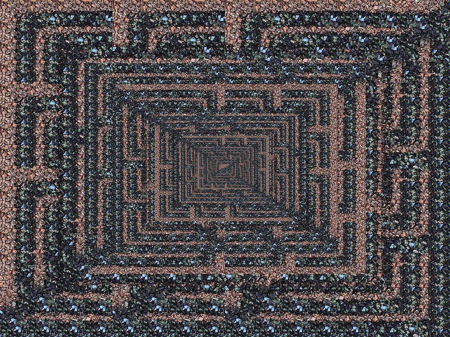 Abstract Digital Art - The Maze by Tim Allen