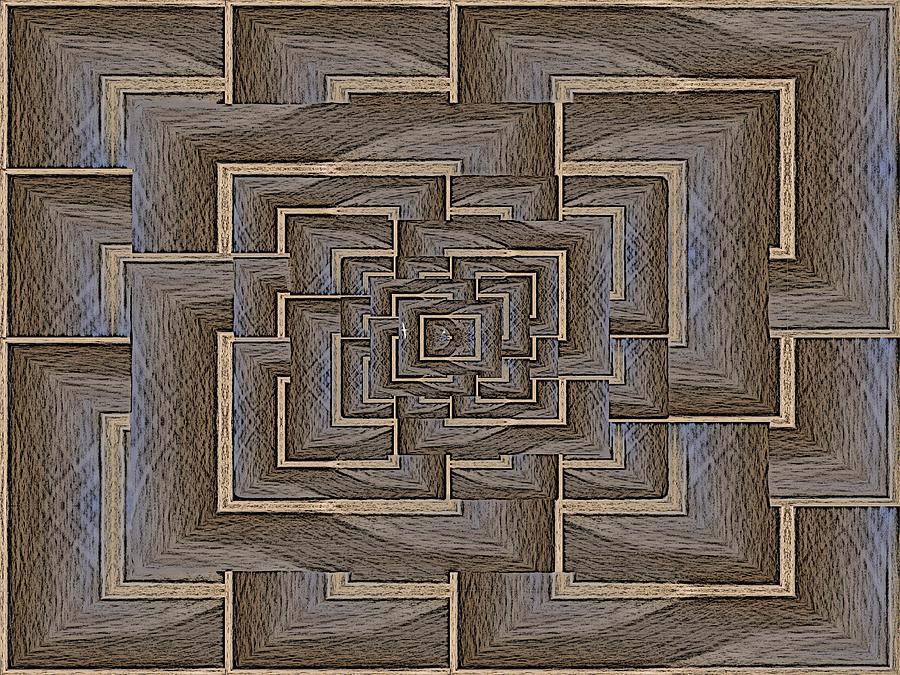 Maze Digital Art - The Maze Within by Tim Allen