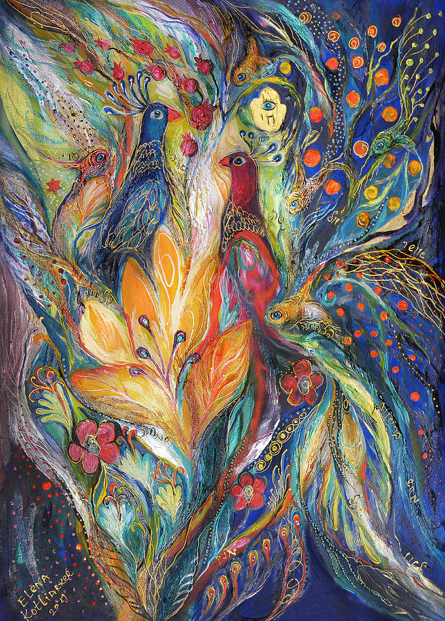 Original Painting - The Melody Of Love by Elena Kotliarker