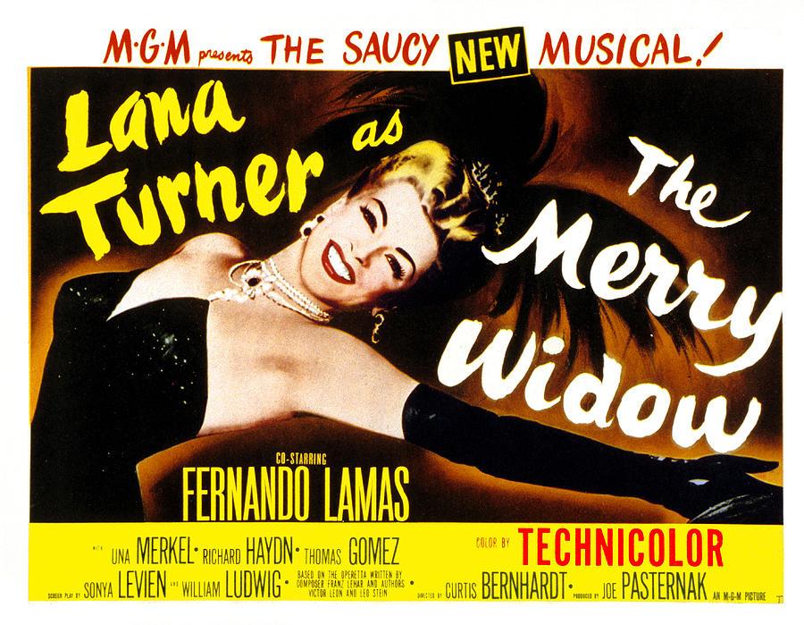 1950s Poster Art Photograph - The Merry Widow, Lana Turner, 1952 by Everett