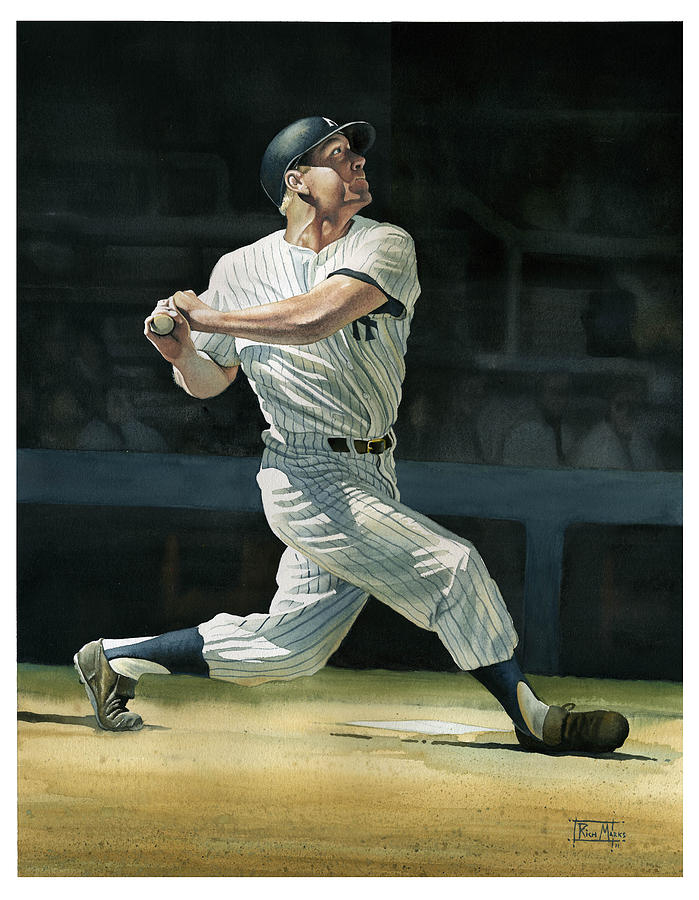 Sports Painting - The Mick by Rich Marks