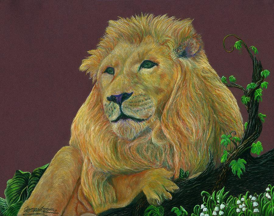 Lion Pastel - The Mighty King by Jyvonne Inman