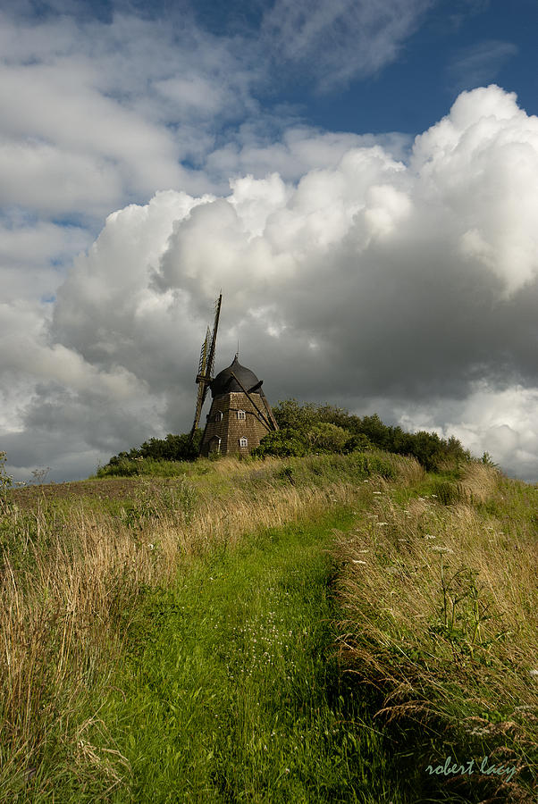 Windmill Photograph - The Mill At Aarup by Robert Lacy