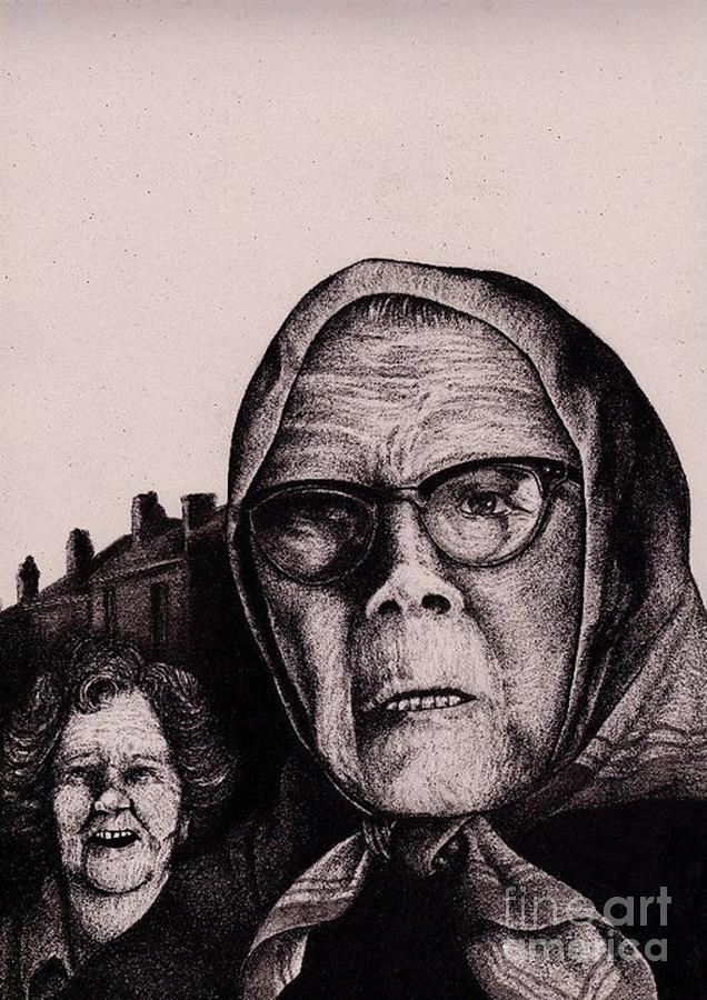Drawing - The Mirth Of Beryl And The Peril Of Meryl by Spencer Bower
