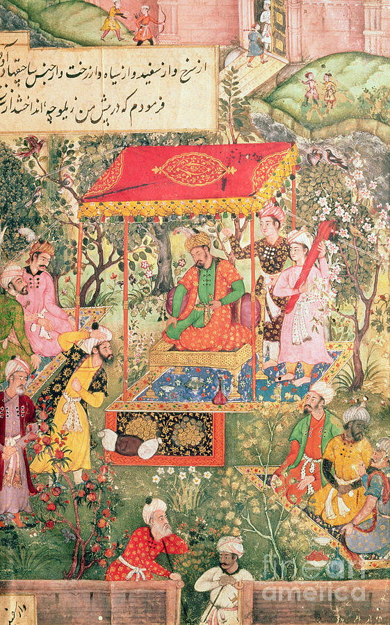 Indian Painting - The Mogul Emperor Babur by Indian School