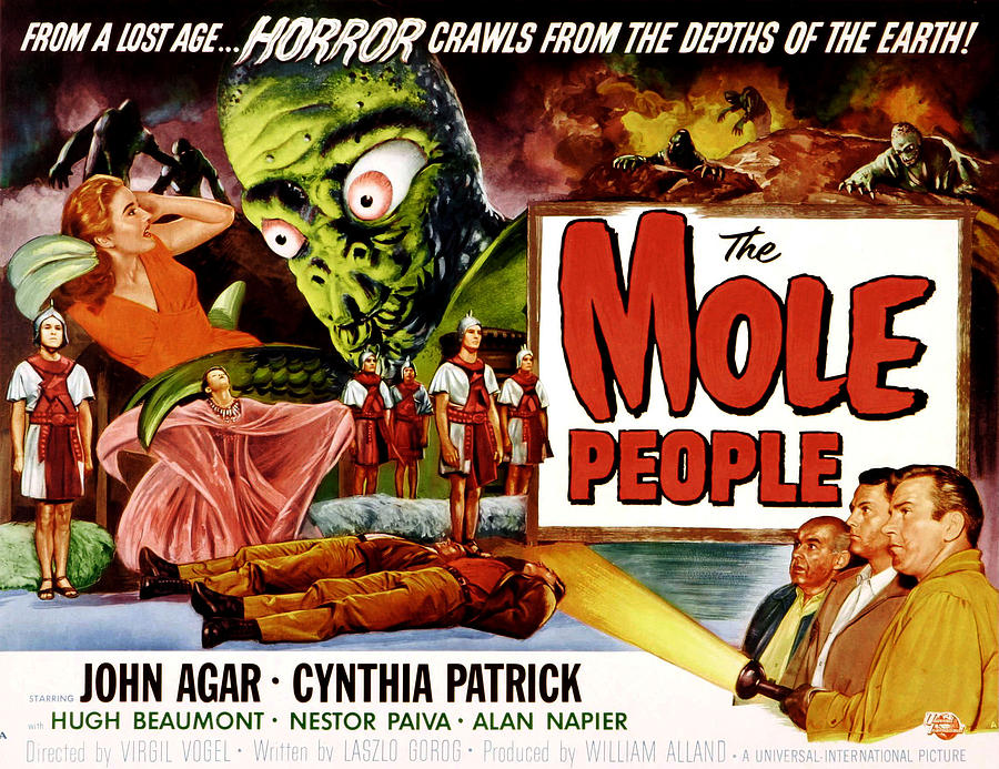 1950s Poster Art Photograph - The Mole People, Girl On Upper Left by Everett