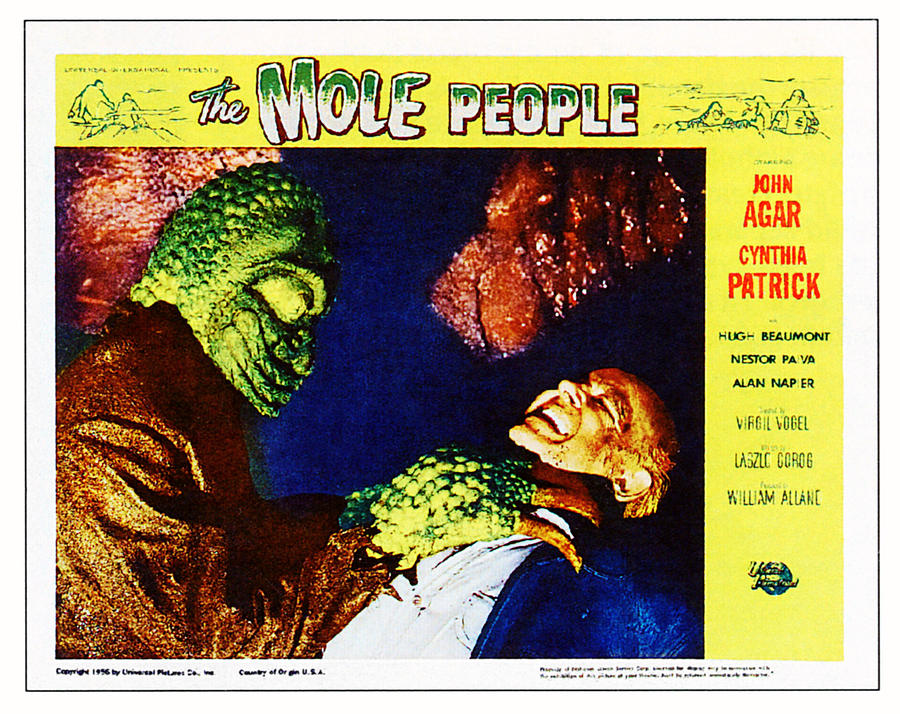 1956 Movies Photograph - The Mole People, On Right Nestor Paiva by Everett