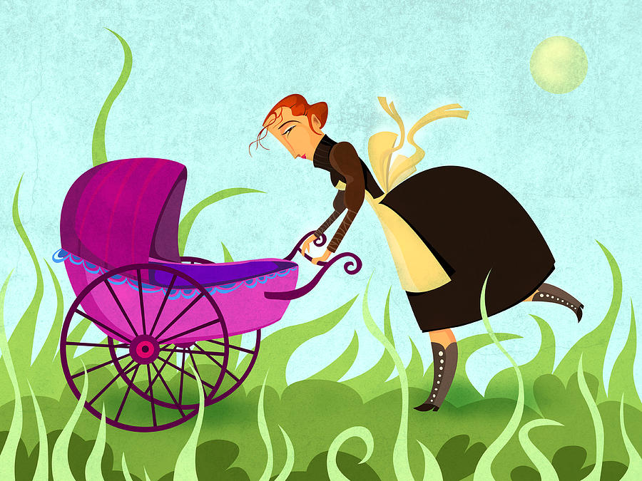 Illustration Painting - The Mom by Autogiro Illustration