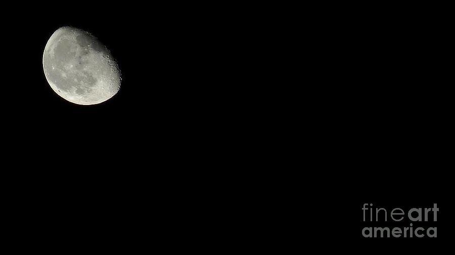 Photo Photograph - The Moon by Kodjo Somana