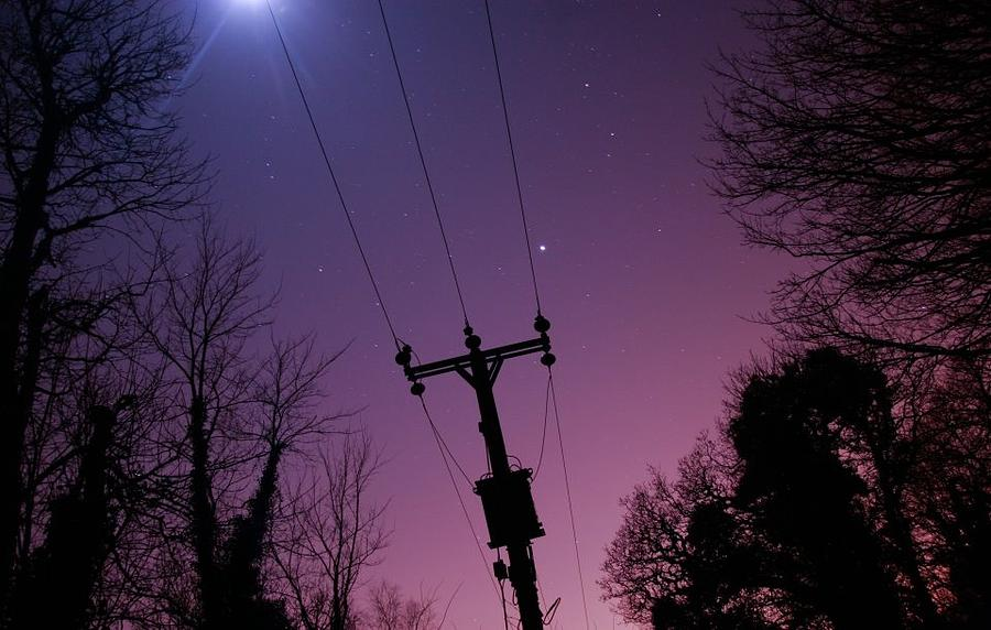 Night Sky Photograph - The Moons Flare by Andrew Webber