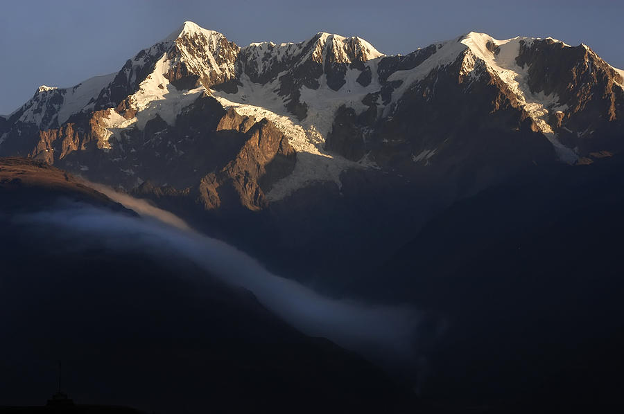 Mountain Photograph - The Mountain Illimani. Republic Of Bolivia. by Eric Bauer