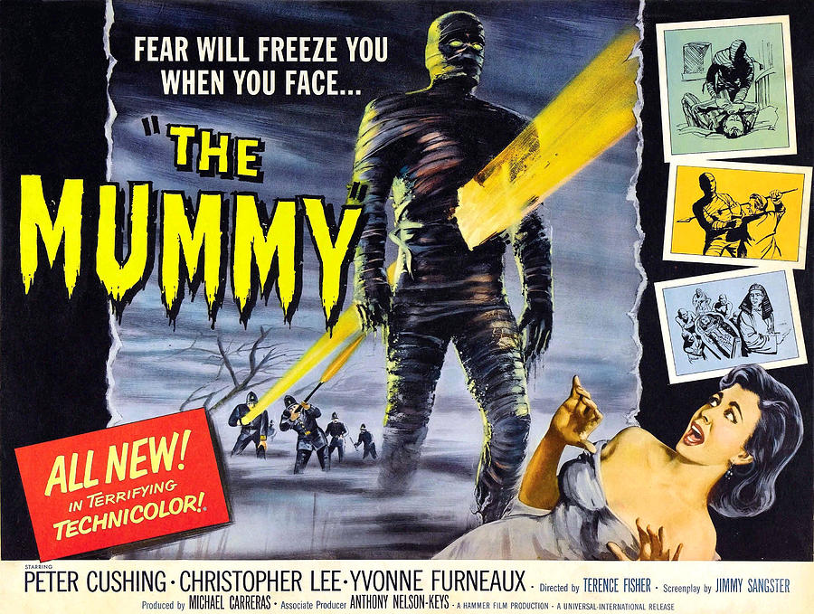1950s Movies Photograph - The Mummy, As The Mummy Christopher by Everett