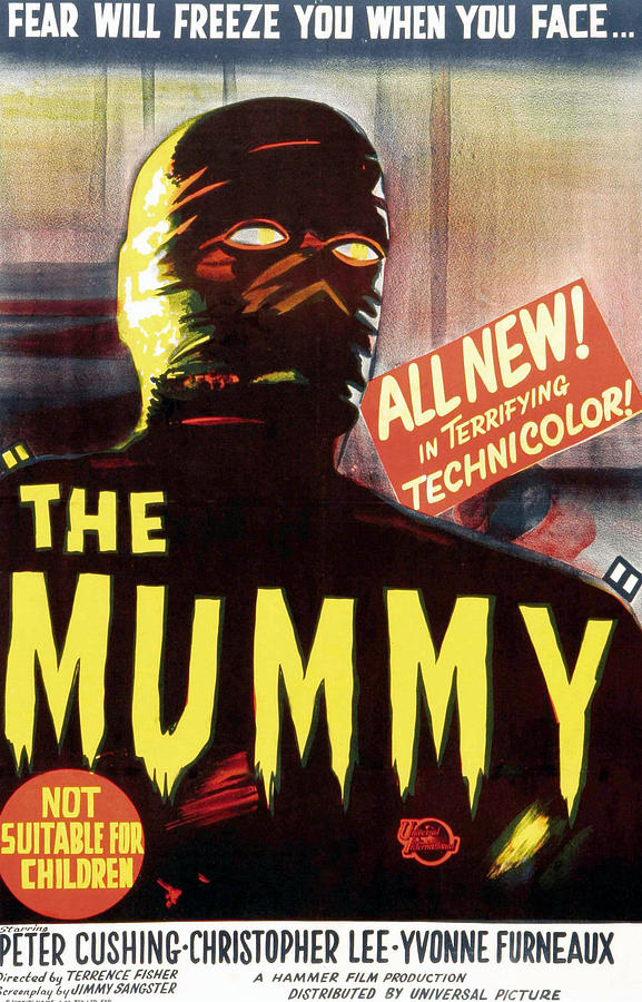 1959 Movies Photograph - The Mummy, Austrailian One Sheet by Everett