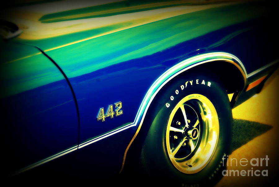 Oldsmobile 442 Photograph - The Muscle Car Oldsmobile 442 by Susanne Van Hulst