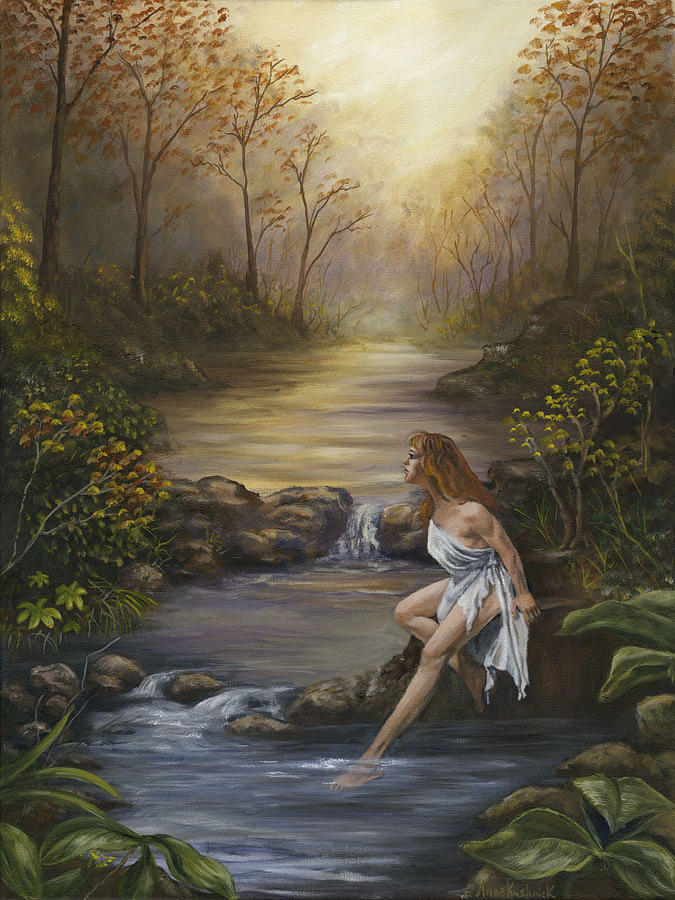 Landscape Painting - The Muse by Anne Kushnick