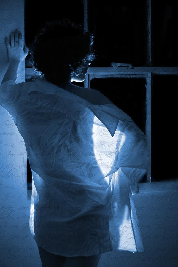 Blue Photograph - The Muse- She Moves Like Poetry by Nyla Alisia