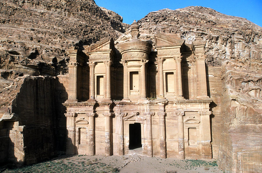 Color Image Photograph - The Nabateian Temple Of Al Deir by Martin Gray