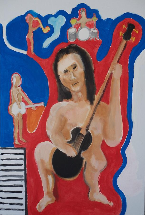 Instrument Painting - The Naked Bass by Jay Manne-Crusoe