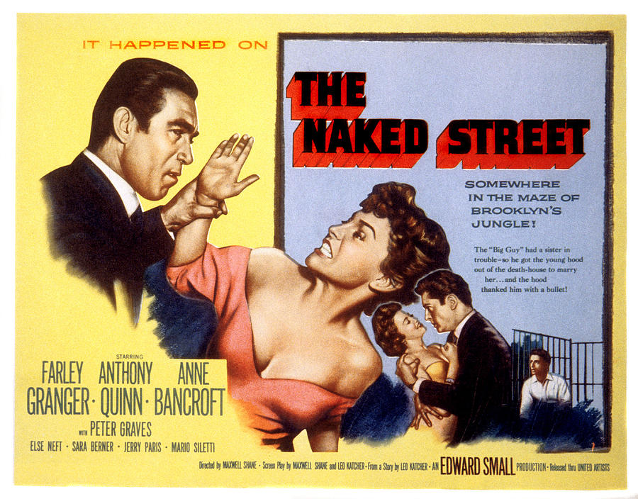 1950s Movies Photograph - The Naked Street, Anthony Quinn, Anne by Everett