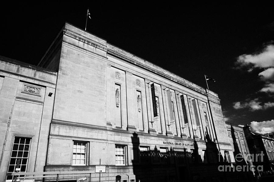The Photograph - The National Library Of Scotland Edinburgh Scotland Uk United Kingdom by Joe Fox