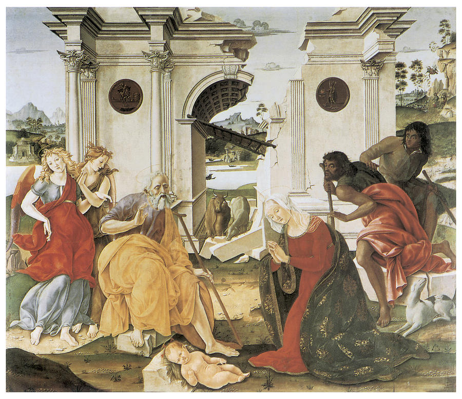 Nativity Painting - The Nativity by Francesco Di Giorgio Martini