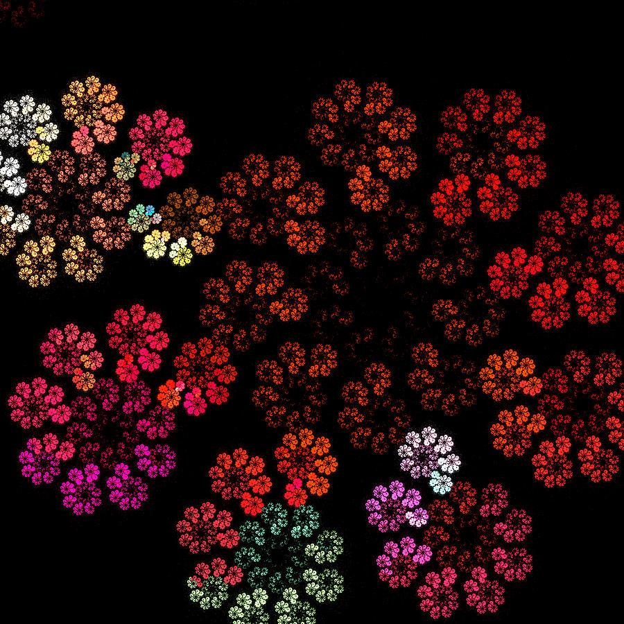 the neon flower garden digital art by marno retief