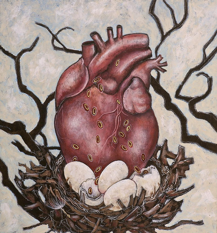 The Nest Of My Heart Painting by Sheri Howe