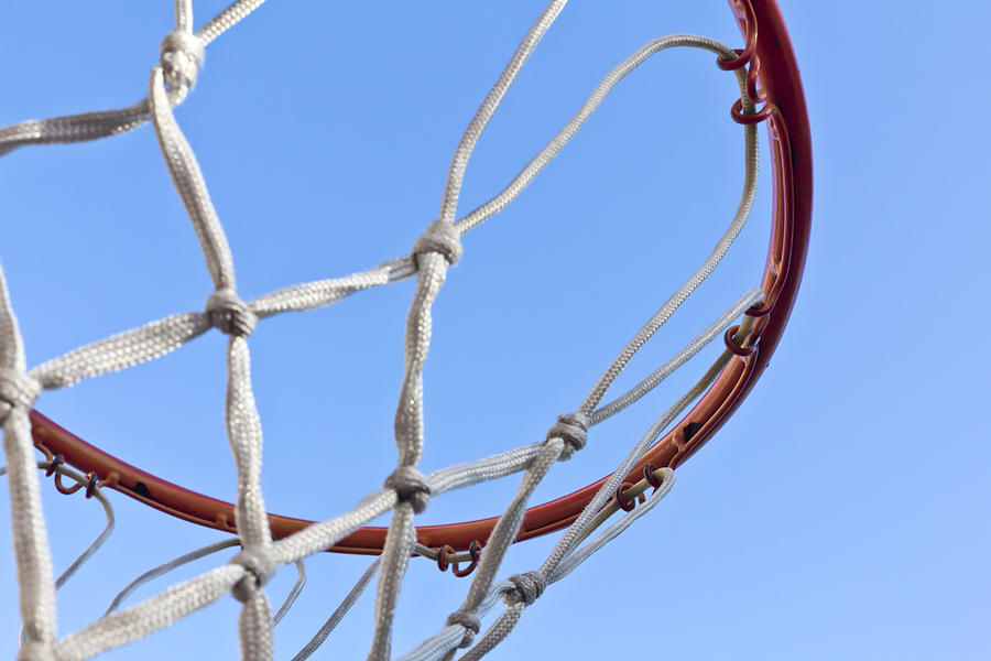 Blue Photograph - The Net And No Game by Nicholas Evans