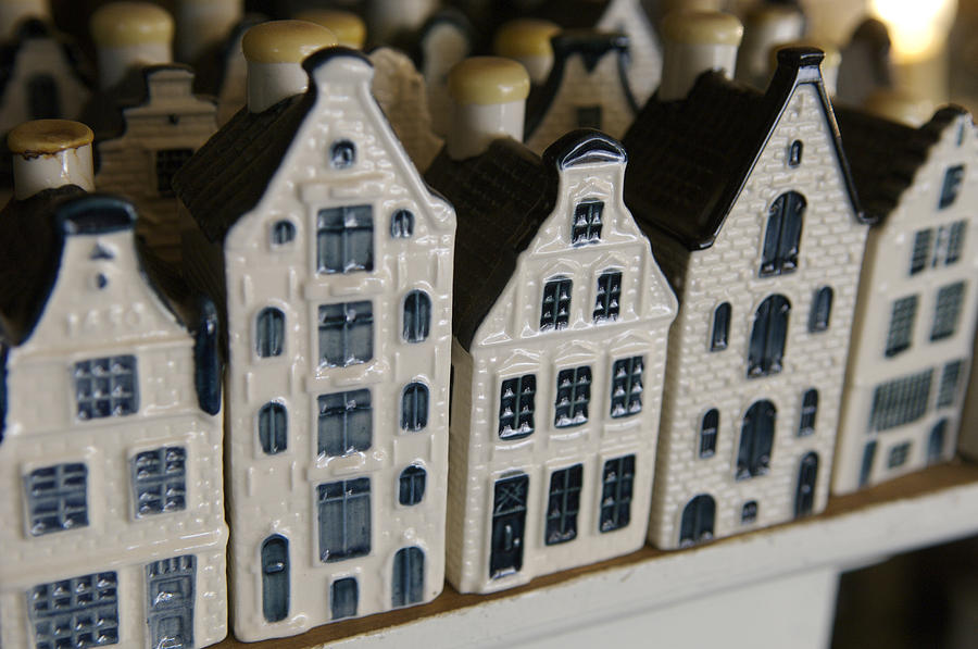 Cityscape Photograph - The Netherlands, Amsterdam, Model Houses by Keenpress