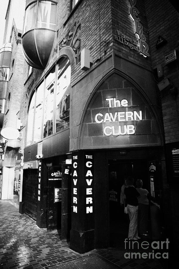 Mathew Photograph - The New Cavern Club In Mathew Street In Liverpool City Centre Birthplace Of The Beatles by Joe Fox