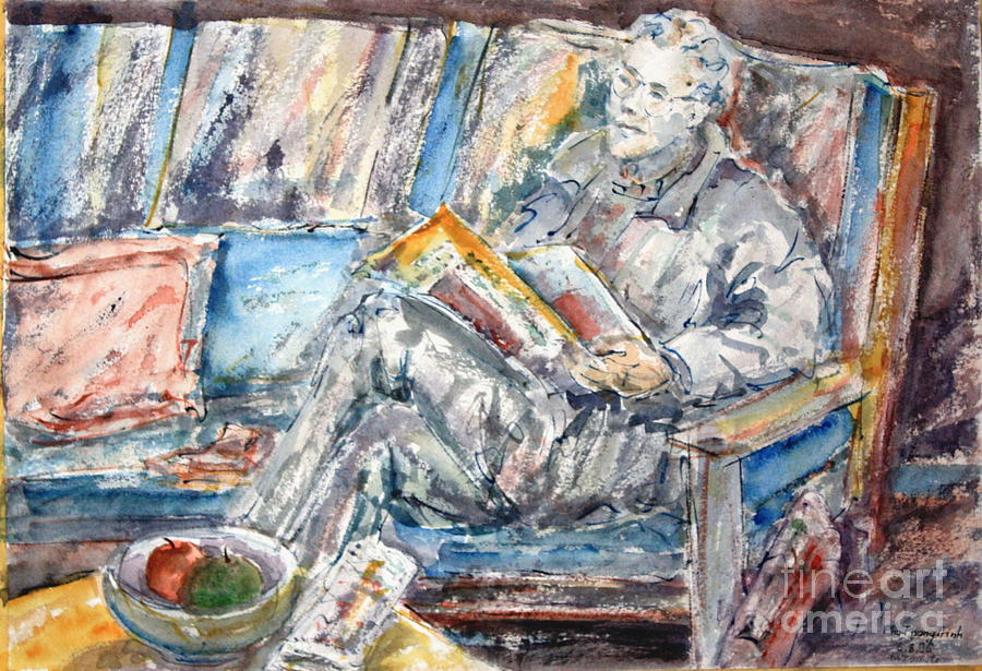 All Painting - The News Reader by Phong Trinh