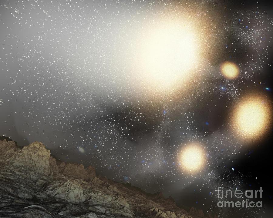 Astronomy Digital Art - The Night Sky As Seen by Stocktrek Images