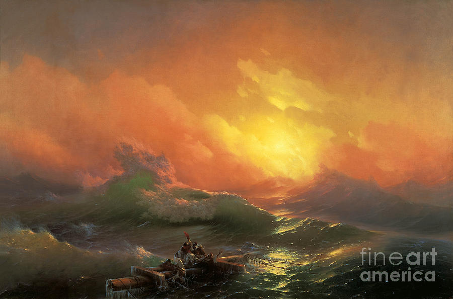 Ocean Painting - The Ninth Wave by Aivazovsky