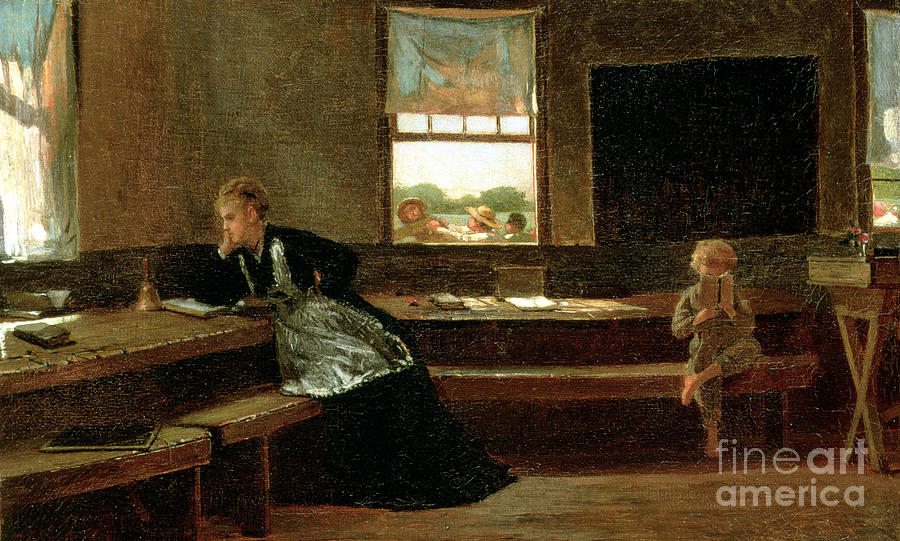Kid Painting - The Noon Recess by Winslow Homer