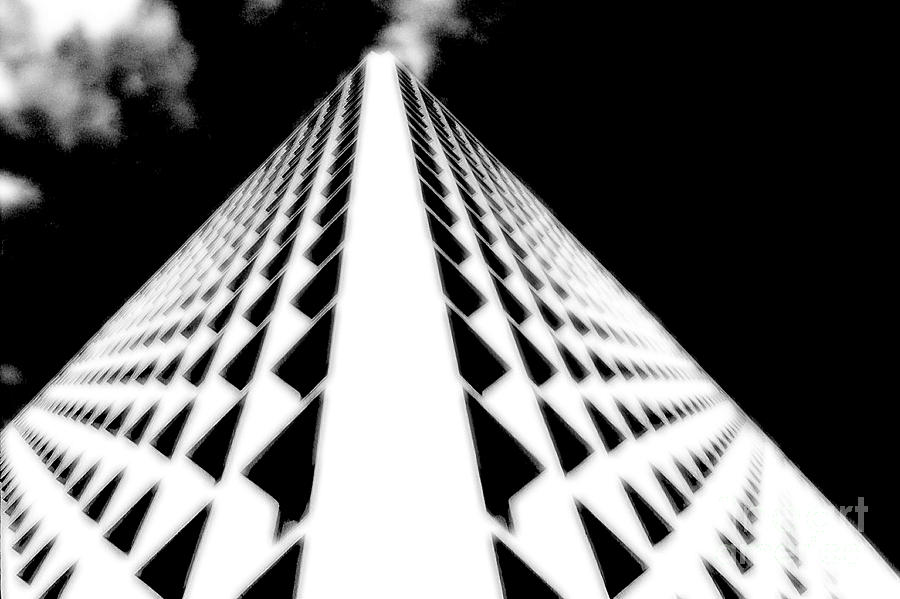 Office Photograph - The Office Building Bw by Mike Nellums